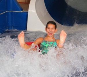 Guests of all ages enjoy new waterslides.