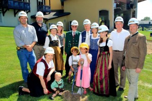 Groundbreaking Zehnder and Hendrick families Sept 2012 compressed