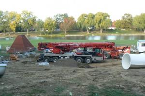 Construction continues at the Bavarian  Inn Lodge