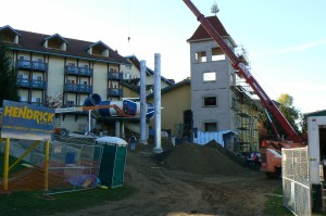 Construction continues at the Bavarian  Inn Lodge