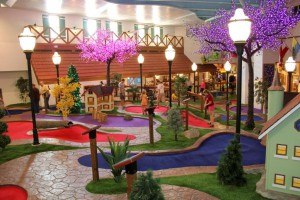 Guests at the Bavarian Inn Lodge in Frankenmuth enjoy the newly revamped Willy's Kingdom 18-hole mini-golf course.