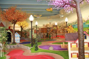 The newly revamped Willy's Kingdom 18-hole mini-golf course at the Bavarian Inn Lodge in Frankenmuth features three new LED-illuminated trees, each glowing with 5,000 lights.